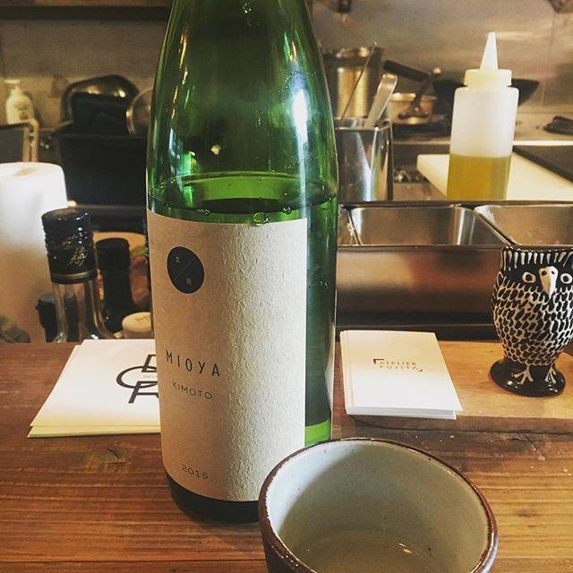 純米生原酒を常温熟成した非売品をアトリエフジタにて。来週から日本酒はじめます。We going have aged Japanese sake finally next week!!! Smooth as like a water!! #純米生酛#熱燗ではなく常温熟成#お酒の位置とは#フジタコンサル - from Instagram