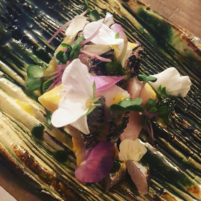 Cured Sawara Japanese Spanish mackerel sashimi - from Instagram